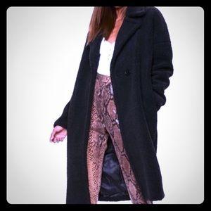 Black missguided teddy coat